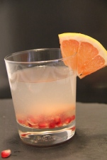 pomegranate and grapefruit infused water
