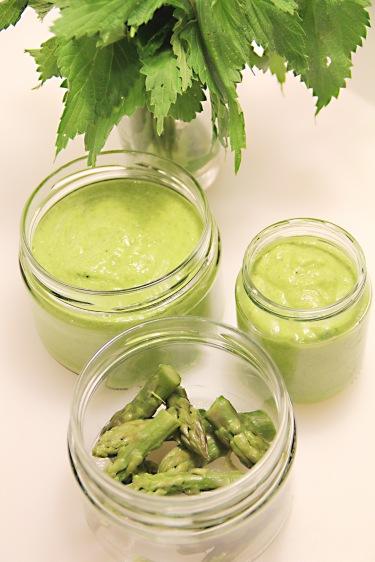 green asparagus pesto