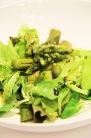 Green asparagus salad