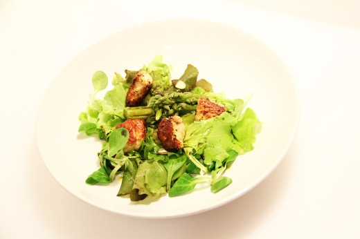 Green turkey asparagus salad