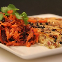 Serve with a quiche or grilled meat