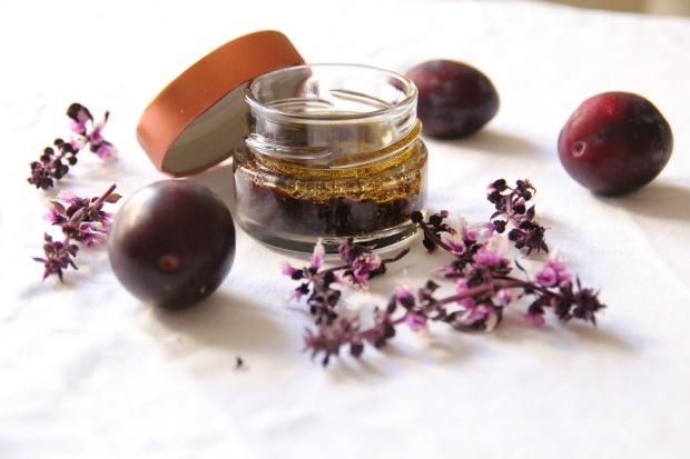 Plum Vinaigrette with purple basil